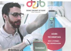 Rasheed Ahmad beim Brillux Azubi-Techniktag in Reutlingen